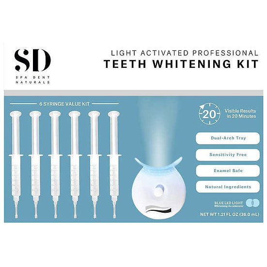 SD Spa Dent Natural Light Activated Professional Teeth Whitening Kit