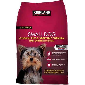 Kirkland Signature Small Formula Chicken & Vegetable Dog Food 20 lb.