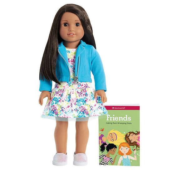 American Girl Truly Me Doll & Outfit Bundle, Dark Brown Hair with Brown Eyes