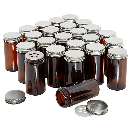 Kamenstein 24-piece Amber Glass Jars, Model  5267550