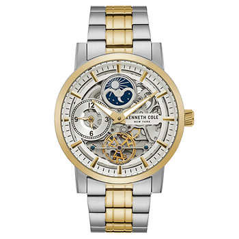 Kenneth Cole New York Two-Tone Stainless Steel Skeleton Dial Men's Watch