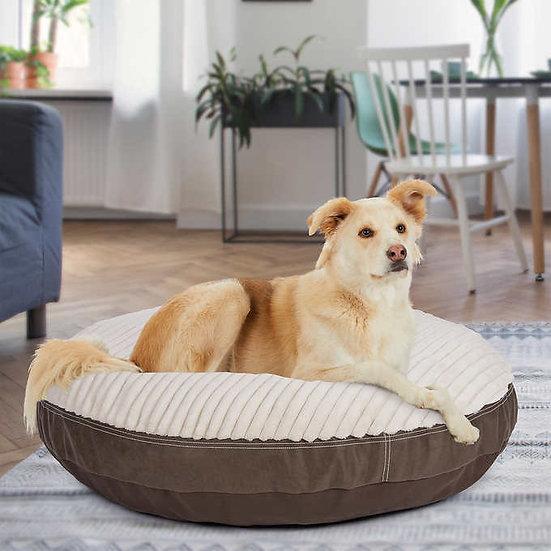 """Kirkland Signature 42"""" Round Dog Bed Canoga Faux Leather"""