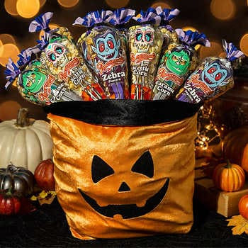 Popcornopolis 24 count Mini Cone Popcorn Jack O' Lantern Bag, Halloween