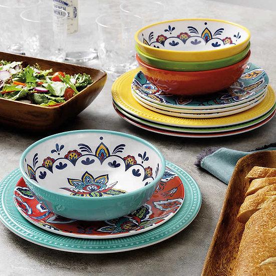 Pandex 12-piece Melamine Dinnerware Set