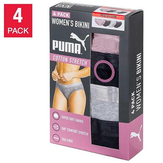 Puma Ladies' Cotton Stretch Bikini, 4-pack