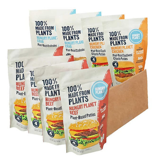 Hungry Planet® Plant-based Burgers, Southwest Chicken, and Crab Cakes Variety Pk