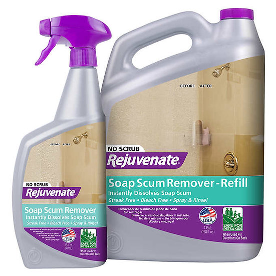Rejuvenate Soap Scum Remover, 32 fl oz, 2-count