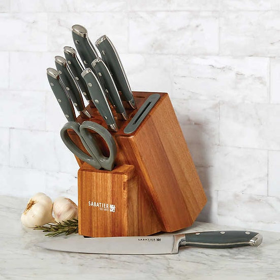 Sabatier 10-Piece Edgekeeper® Forged German Steel Cutlery Set