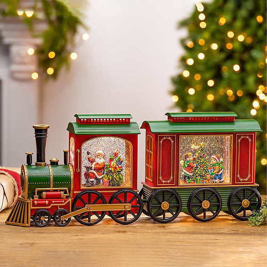 Water Globe Train with LED Lights, Christmas
