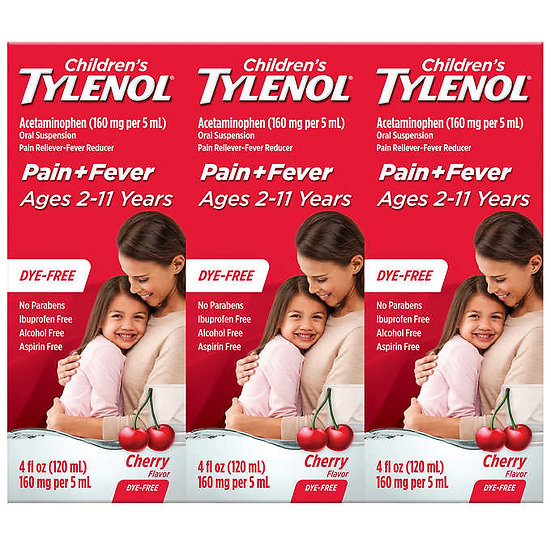 Children's Tylenol Dye-Free Cherry Flavor Suspension, 12 Ounces