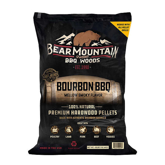 Bear Mountain BBQ Bourbon BBQ Pellets, 40 lb