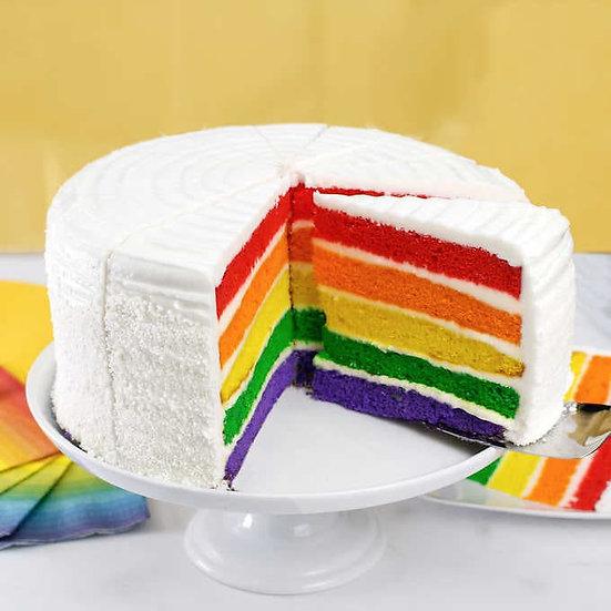 "David's Cookies 9"" Rainbow Cake"