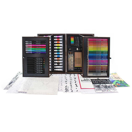 Art 101 143-piece All Media Artists Set with Wood Case