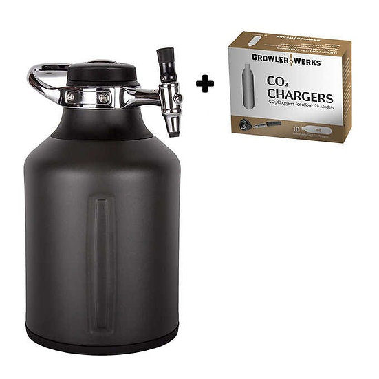 GrowlerWerks uKeg Go 128oz Growler Bundle