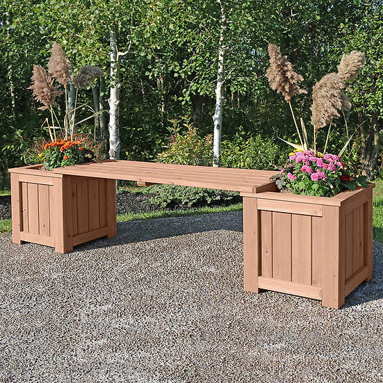 Yardistry Cedar Bench Planter