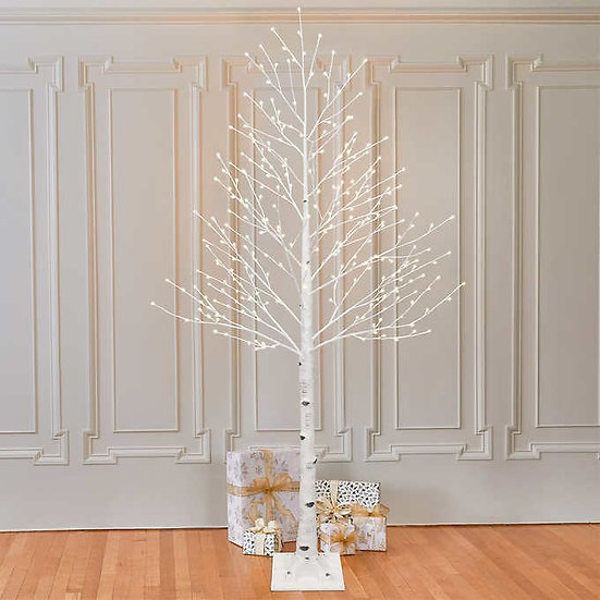 7' Multicolor LED Birch Tree, Christmas Holiday