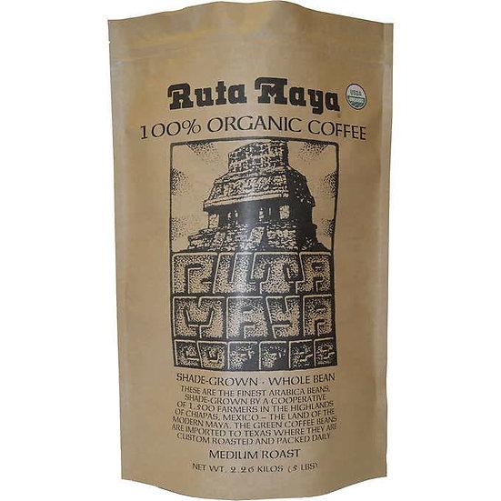 Ruta Maya Organic Medium Roast Whole Bean Coffee 5 lb