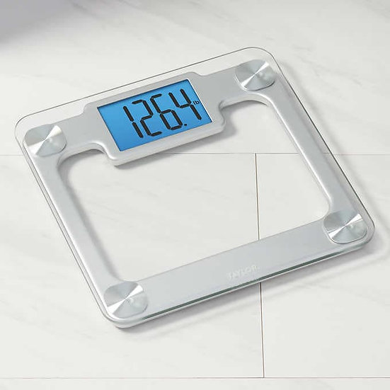 Taylor Digital Glass and Stainless Steel Bathroom Scale