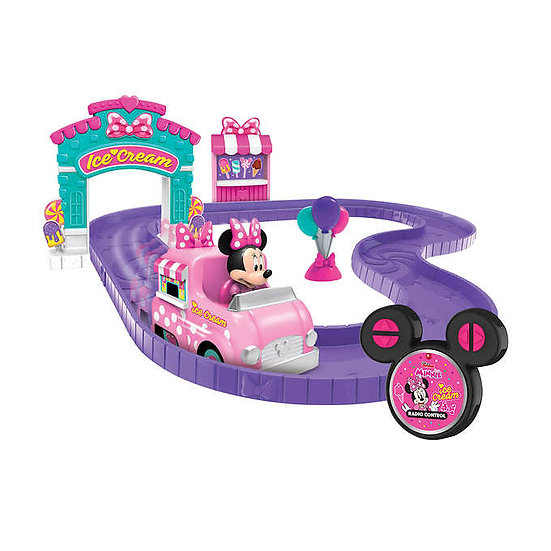 Disney Minnie's Ice Cream Truck RC and Ice Cream Shop Track Set