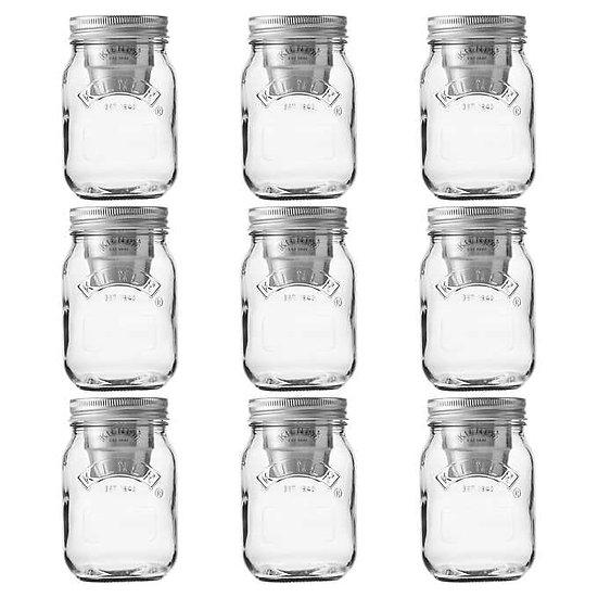 Kilner 9-piece Snack On The Go Jar Set