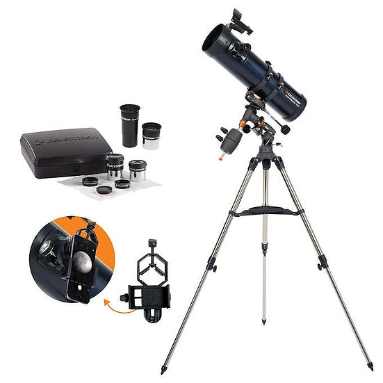 Celestron AstroMaster 130EQ with Eyepiece Kit & Smartphone Adapter