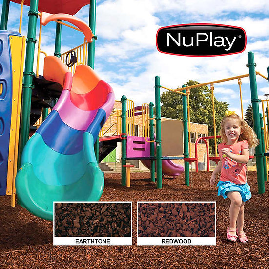 NuPlay Playground Mulch, 1,000 lbs or 2,000 lbs, 100% recycled rubber