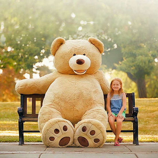 """93"""" Plush Bear, For Ages: 3+"""