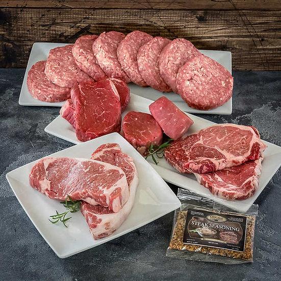 Chicago Steak Premium Angus Beef Butcher Assortment , 8 lbs