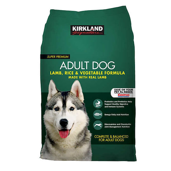 Kirkland Signature Adult Formula Lamb, Rice and Vegetable Dog Food 40 lb.