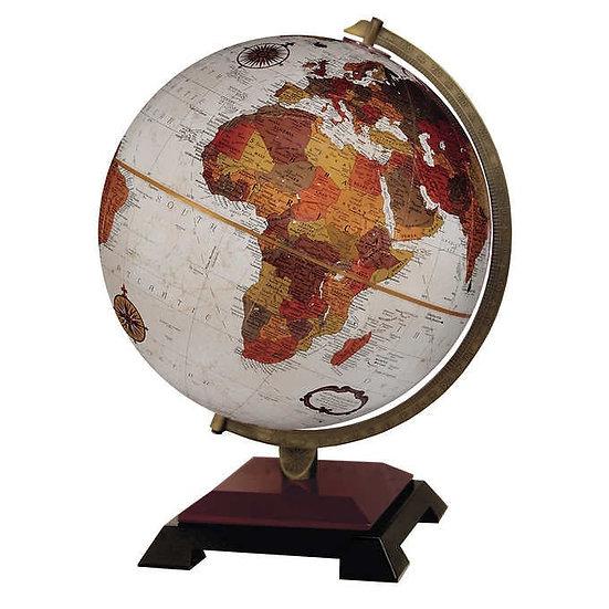 "Replogle 12"" Bronze Colored Globe with Cherry & Black Wood Base"