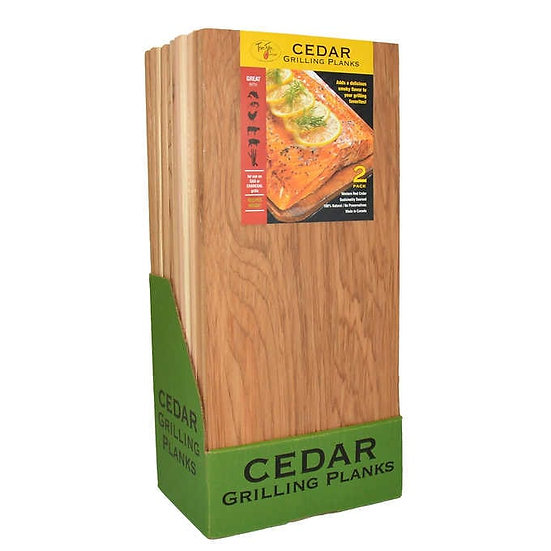 TrueFire Cedar Grilling Planks, 7.25 in x 16 in, 2-count, 12-pack