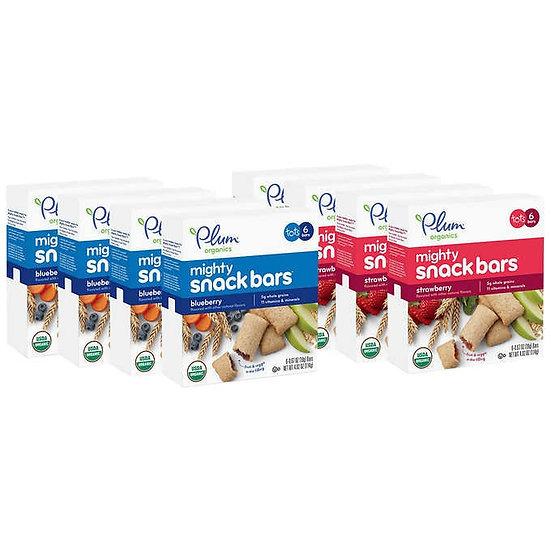 Plum Organics Mighty Snack Bars Variety, 8-pack