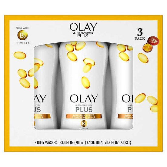 Olay Ultra Moisture Plus Body Wash 23.6 oz, 3-pack