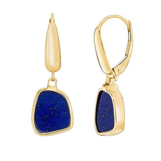 Lapis 14kt Yellow Gold Earrings