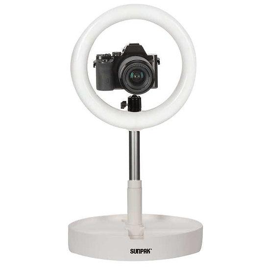 Sunpak Compact Folding Vlogging Kit with Boya Cardioid Microphone