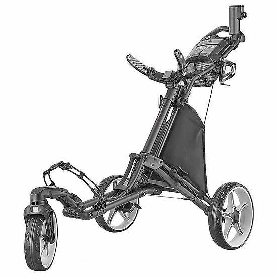 CaddyTek 3-wheel Golf Cart with Swivel Front Wheel