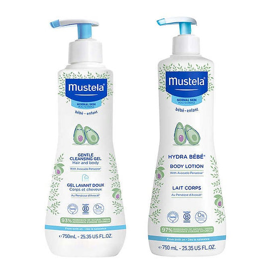 Mustela Gentle Baby Skincare Bundle 25.35 fl oz, 2-pack