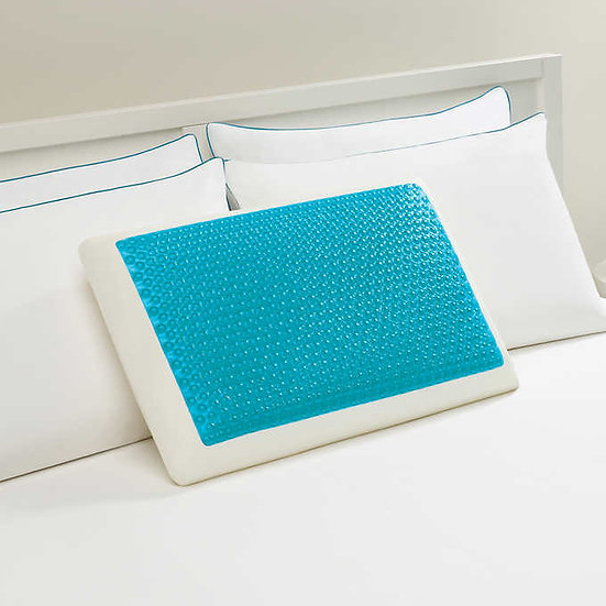 Comfort Revolution Blue Bubble Gel + Memory Foam Pillow
