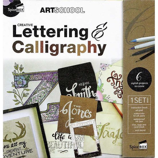 Art School Creative Lettering and Calligraphy Set