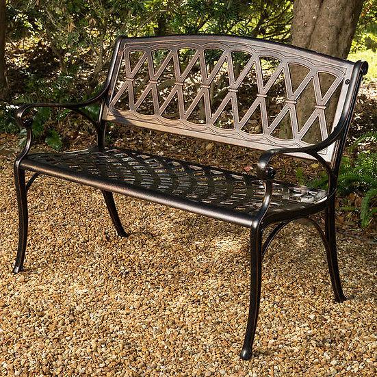 Hargrove Cast Aluminum Patio Bench