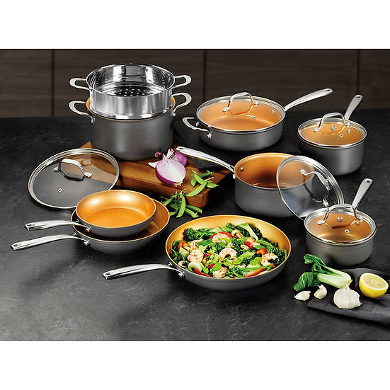 Gotham Steel Hard Anodized 14-Piece Cookware Set