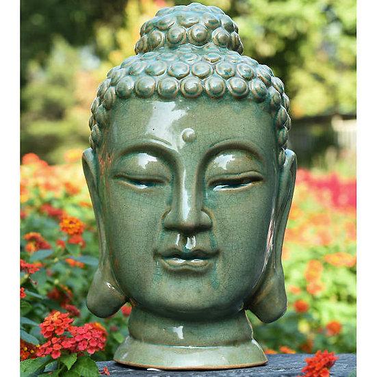Ceramic Zen Buddha Head Statue