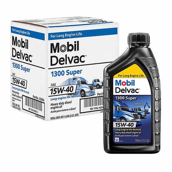 Mobil Delvac 1300 Super Heavy Duty Synthetic Blend Diesel Engine Oil  6 x 15W-40