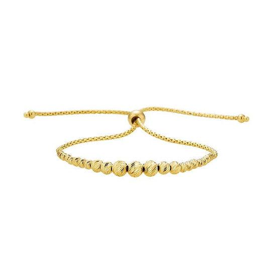 14kt Yellow Gold Bolo Bracelet