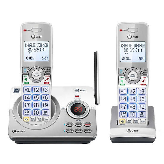 AT&T DL72210 DECT 6.0 2 Handset Answering System with Connect to Cell