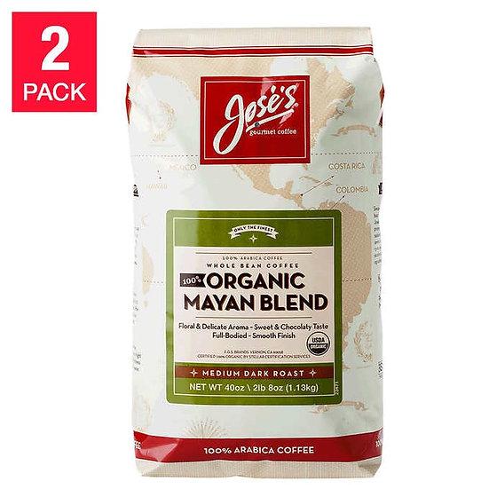 Jose's 100% Organic Mayan Coffee 2.5 lb, 2-pack