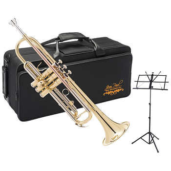 Jean Paul Rose Brass Trumpet with Music Stand