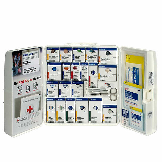 American Red Cross First Aid Cabinet With Hand Sanitizer
