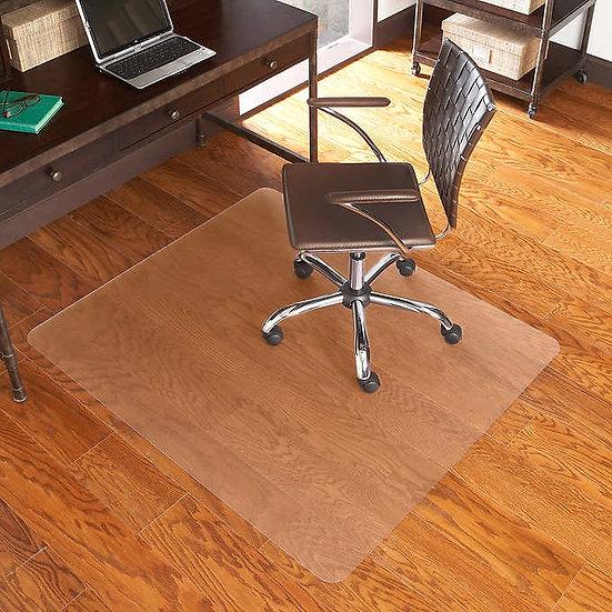 """ES Robbins Chair Mat for Hard Floors, 46"""" x 60"""" No Lip, Clear"""