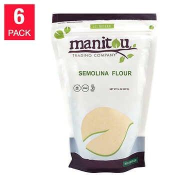 Manitou Semolina Flour 14 oz, 6-pack